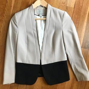 #H&M blazer contrasting Black and grey.